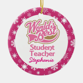 Student Teacher Personalized gift Ornament