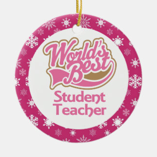 Student Teacher Teacher Ornament
