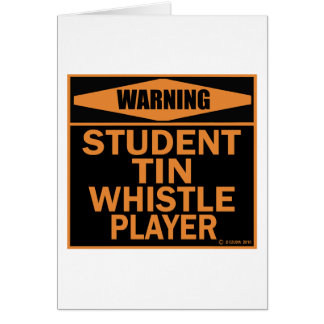 Student Tin Whistle Player Greeting Card