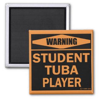 Student Tuba Player Refrigerator Magnet