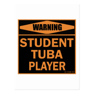 Student Tuba Player Postcard