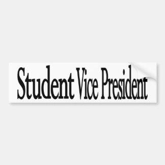 """""""Student Vice Pres."""" Black on White Bumper Sticker"""