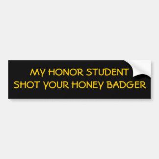 Student vs badger! bumper stickers