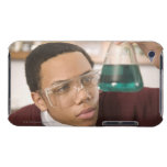 Student watching chemistry experiment barely there iPod covers