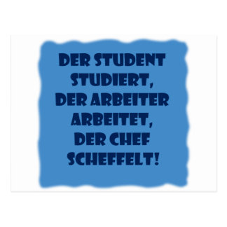 Student, worker and boss postcard