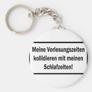 Studenten Vorlesungszeiten text icon Basic Round Button Keychain
