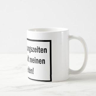 Studenten Vorlesungszeiten text icon Coffee Mug