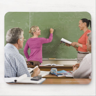 Students and teacher in classroom mouse pad