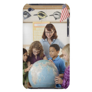 students and teacher with globe iPod touch Case-Mate case