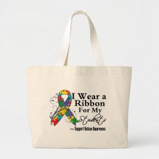 Students - Autism Ribbon Large Tote Bag