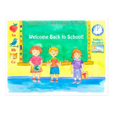 Beach Themed Students Classroom Welcome Back To School Postcard