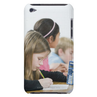 Students doing math work in classroom iPod Case-Mate cases
