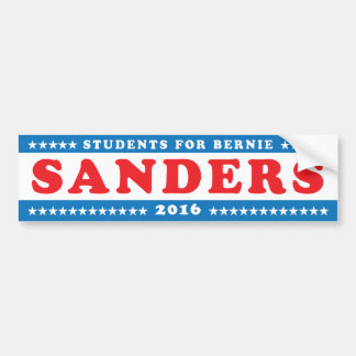 Students for Bernie Sanders '16 Bumper Sticker