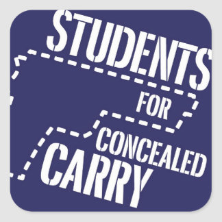 Students for Concealed Carry Square Logo Stickers
