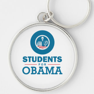 Students for Obama Silver-Colored Round Keychain