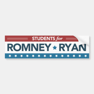 Students For Romney Ryan Bumper Sticker Car Bumper Sticker