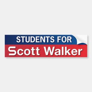 Students for Scott Walker Car Bumper Sticker