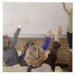 students in classroom ceramic tiles