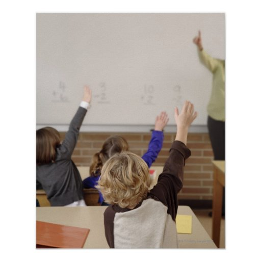 students in classroom print