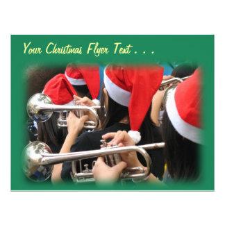 Students in Santa Hats Blow Christmas Trumpets Custom Flyer