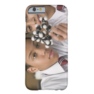 Students looking at molecular model barely there iPhone 6 case