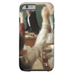Students raising their hands in classroom tough iPhone 6 case