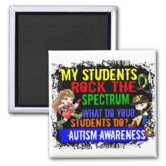 Students Rock The Spectrum Autism 2 Inch Square Magnet
