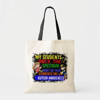 Students Rock The Spectrum Autism Budget Tote Bag