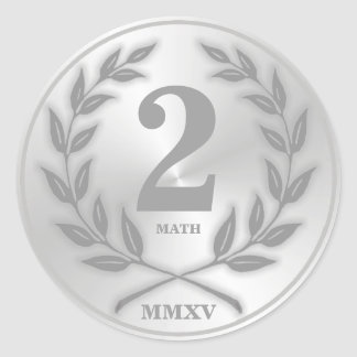Student's Silver Medal Classic Round Sticker