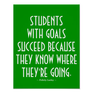 Students with Goals Classroom Poster in Green