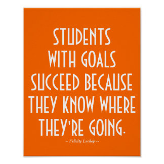 Students with Goals Classroom Poster in Orange