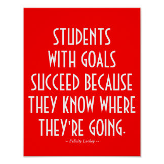 Students with Goals Classroom Poster in Red