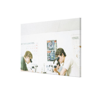 Students with Microscopes Canvas Print