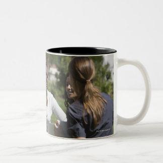 Students with professor Two-Tone coffee mug