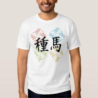 Studhorse square pattern print tee shirt