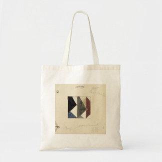 Studie voor Contra compositie XIX by Theo Doesburg Canvas Bags