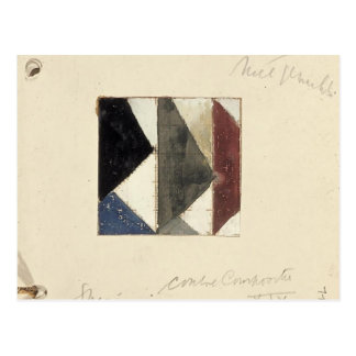 Studie voor Contra compositie XIX by Theo Doesburg Post Card