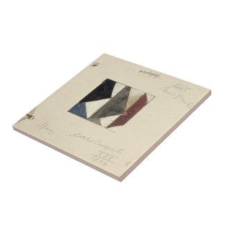 Studie voor Contra compositie XIX by Theo Doesburg Tile