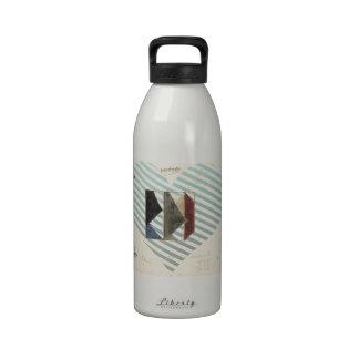 Studie voor Contra compositie XIX by Theo Doesburg Water Bottles