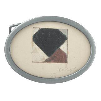 Studie voor Contra compositie XX by Theo Doesburg Oval Belt Buckle