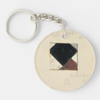 Studie voor Contra compositie XX by Theo Doesburg Acrylic Key Chain