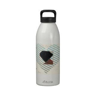 Studie voor Contra compositie XX by Theo Doesburg Water Bottles