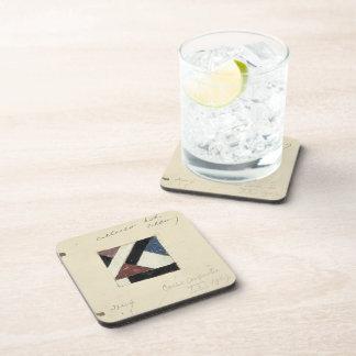 Studie voor Contra compositie XXI by Theo Doesburg Drink Coaster