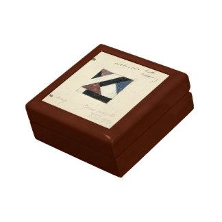 Studie voor Contra compositie XXI by Theo Doesburg Trinket Box
