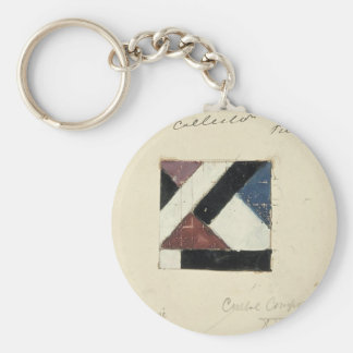 Studie voor Contra compositie XXI by Theo Doesburg Keychains