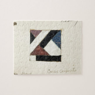 Studie voor Contra compositie XXI by Theo Doesburg Jigsaw Puzzle