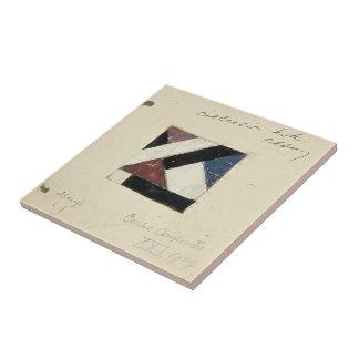 Studie voor Contra compositie XXI by Theo Doesburg Ceramic Tile