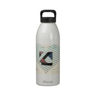Studie voor Contra compositie XXI by Theo Doesburg Water Bottles