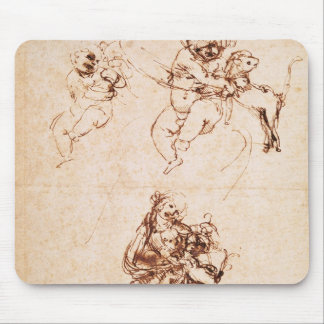 Studies for a Madonna with a Cat, c.1478-80 Mouse Pad