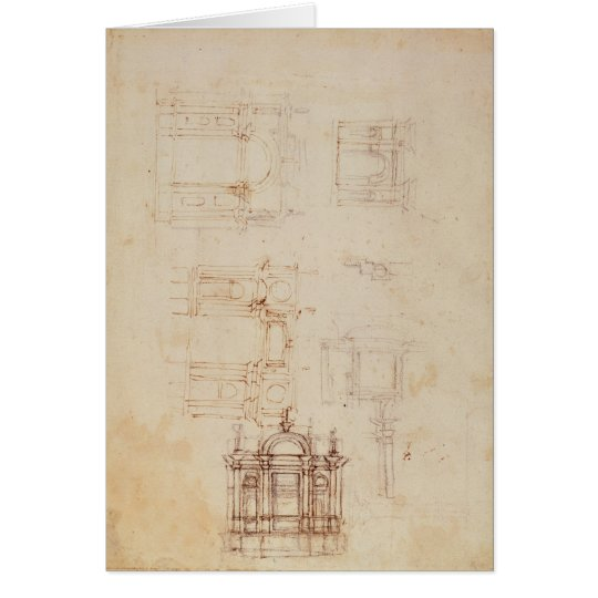 Studies for architectural composition card